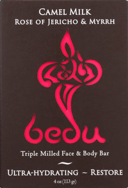 Bedu Face And Body Bar - Rose Of Jericho And Myrrh - Case Of 6 - 4 Oz.