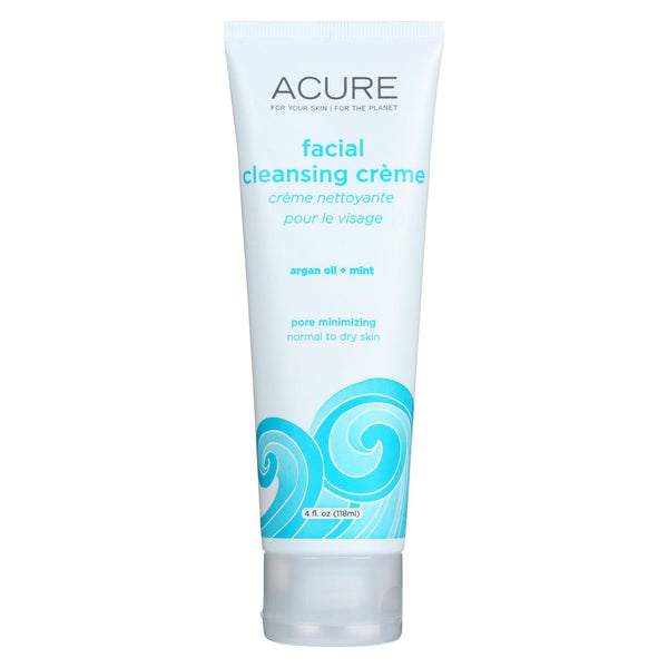 Acure Facial Cleansing Creme - Argan Oil And Mint - 4 Fl Oz.