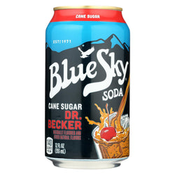 Blue Sky Natural Soda - Dr. Becker - Case Of 4 - 12 Oz.