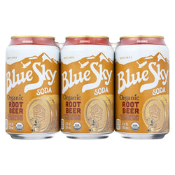 Blue Sky Root Beer - Creamy - Case Of 4 - 12 Oz.