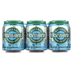 Hansen's Beverages Soda - Club Soda - Case Of 4 - 8 Fl Oz.