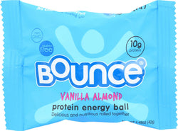 Bounce Energy Balls - Vanilla Almond - Case Of 12 - 1.48 Oz.