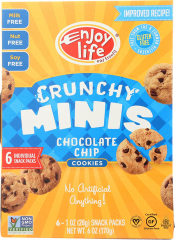 Enjoy Life Crunchy Minis - Chocolate Chip - Case Of 6 - 6 Oz.
