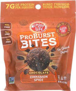 Enjoy Life Proburst Bites - Chocolate Cinnamon Spice - Case Of 6 - 6 Oz.