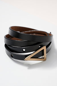 Triangle Leather Belt