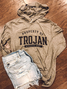 Trojan Athletic Department Hooded Long Sleeve