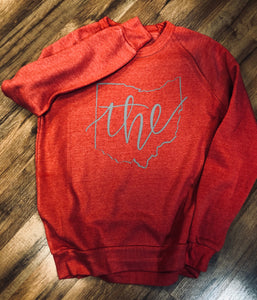 Vintage Red the Ohio Crew Sweatshirt