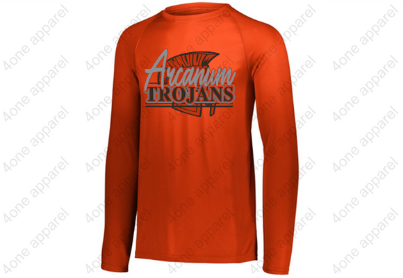 Long Sleeve Dri Fit Orange Tee YOUTH AND ADULT