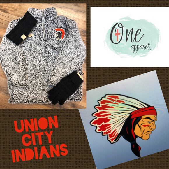 PRE ORDER YOUTH UNION CITY INDIANS SHERPA PULLOVER