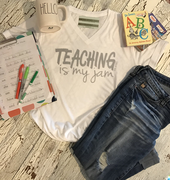 Teaching is my jam tri blend tee