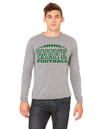 Wave Football Long Sleeve Tee