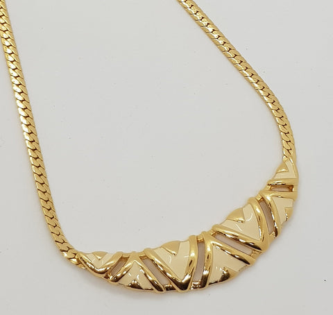 White Pendant with Gold Trimming