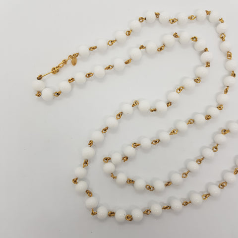 Monet Signed Ivory Necklace