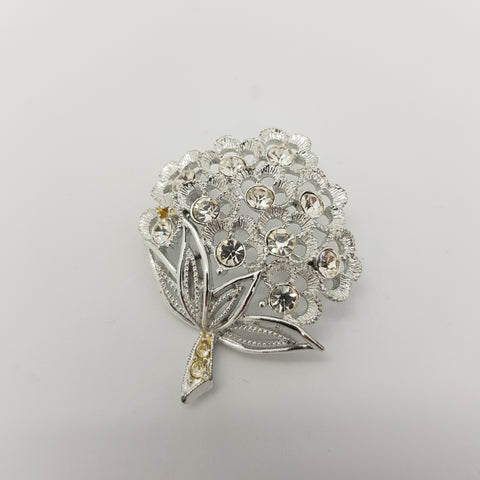 Chic Silver Tree Brooch