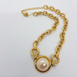 Statement Pearl Chain Necklace