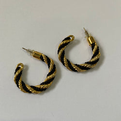 B & G half hoop earrings