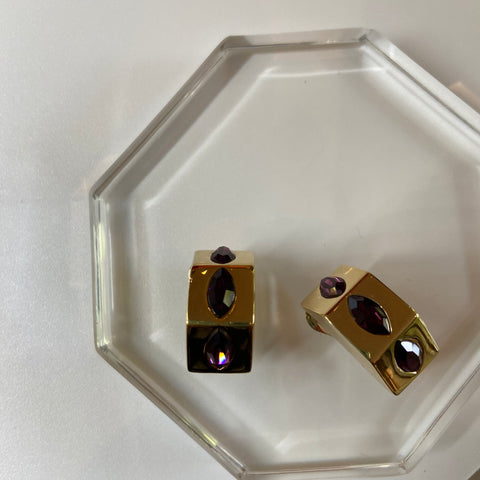 Amethyst Earrings by KJL