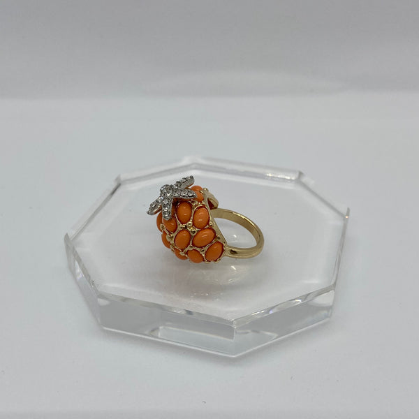 Coral starfish ring by KJL