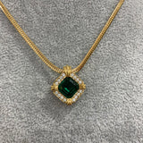 Emerald necklace by Avon