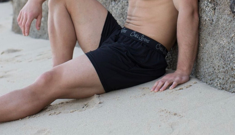 Black Boxers on male model