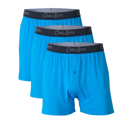 3-Pack Chill Boys Soft Bamboo Boxers - Luxury Men's Boxer Shorts