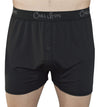 black boxers on model. cool soft chill boys mens boxer shorts