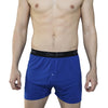 blue boxers on model. Cool mens underwear