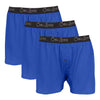 3 pack blue boxers. Men's boxers pack. performance boxers