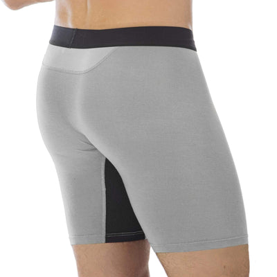 men's bamboo boxer briefs, chill boys gray underwear
