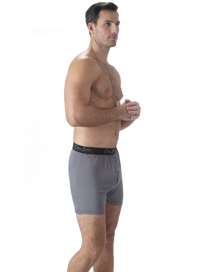 soft bamboo mens boxers. gray bamboo  men's underwear