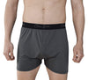gray boxers on model. cool mens underwear