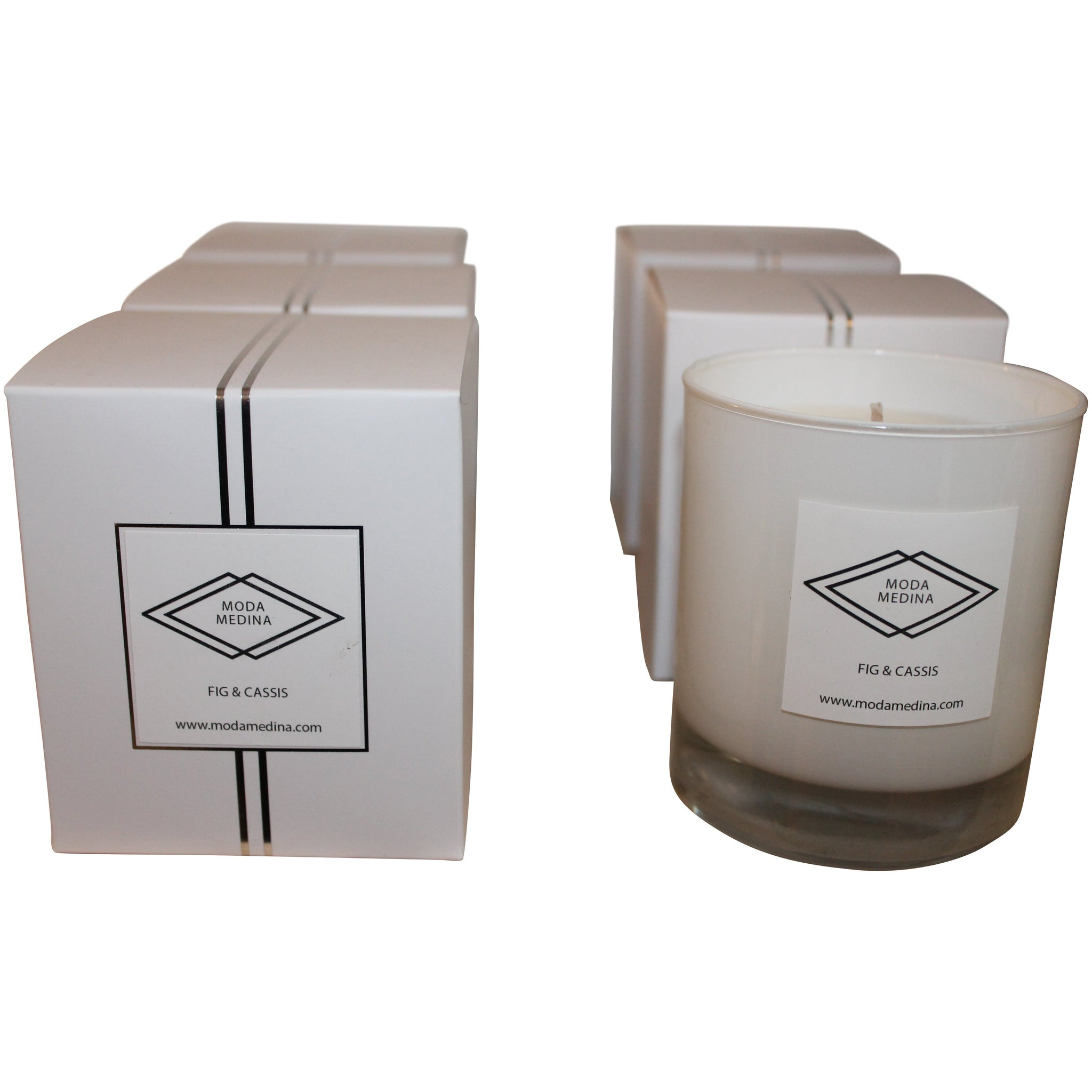 Boxed Candle Fig & Cassis FF-Candle-MODA MEDINA
