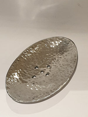 Silver Soap Dish FF-Soap holder-MODA MEDINA