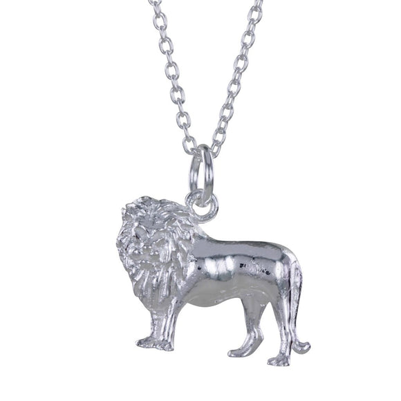 STERLING SILVER LION NECKLACE - MODAMEDINA
