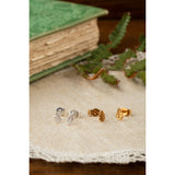 Tiny Oak Leaf Stud Earring - MODAMEDINA