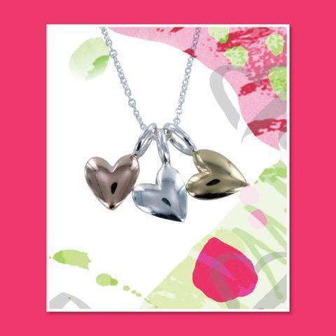 Devotion Triple Heart Necklace-Necklace-MODA MEDINA