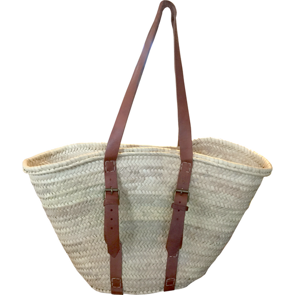 Braided Basket Bag with long handles - MODAMEDINA