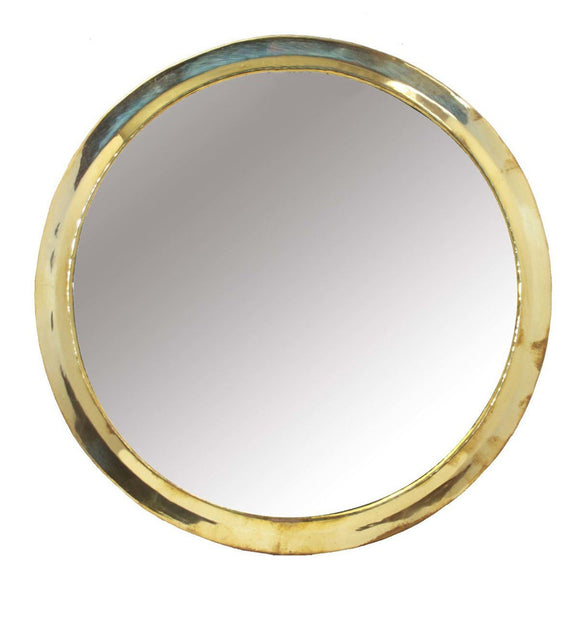 Marrakech Round Mirror Gold