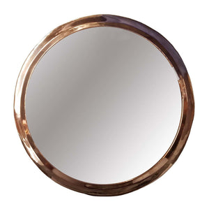 Marrakech Round Mirror Rose Gold-Mirror-MODA MEDINA