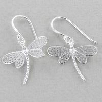 Dragonfly Drop Earrings-Earring-Reeves & Reeves-Silver-MODA MEDINA