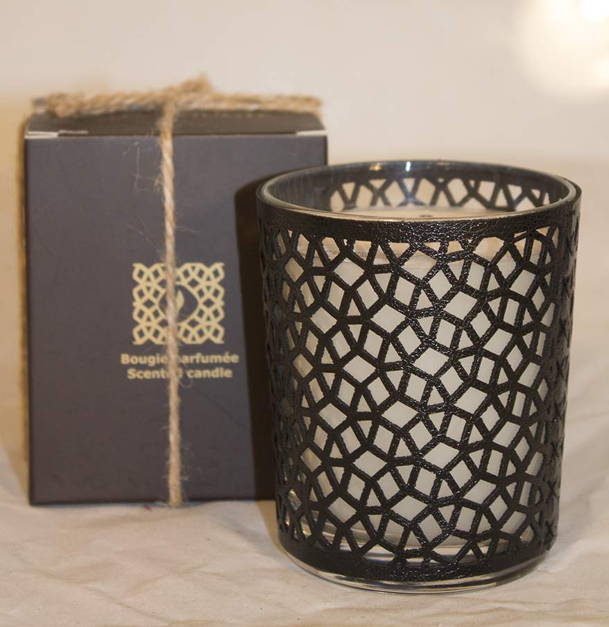 Côté Bougie leather Luminary xSALE-Candle-MODA MEDINA