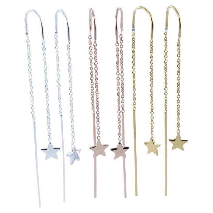 Star Finesse Drop Earring ff-Earring-MODA MEDINA