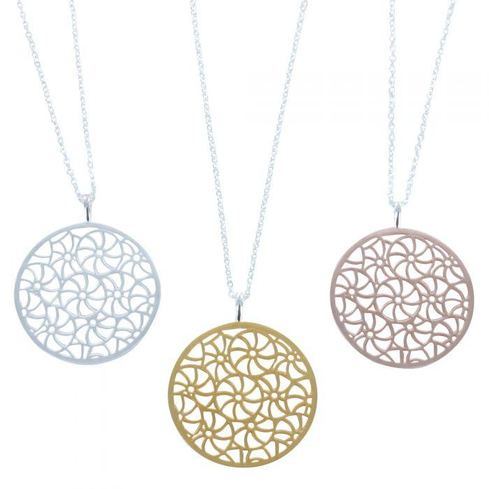 Broderie Coin Necklace-Necklace-MODA MEDINA
