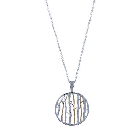 Silver Birch Necklace - MODAMEDINA