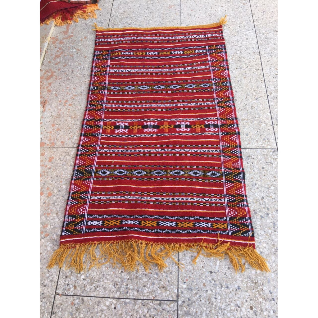 Kilim rug medium Red x150x85 ff-Rugs-MODA MEDINA