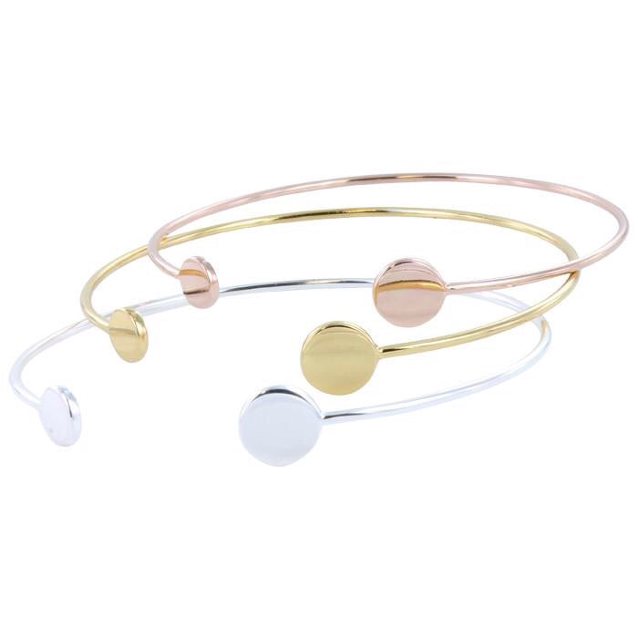 Dot to Dot Bangle Bracelet f-Bracelet-MODA MEDINA
