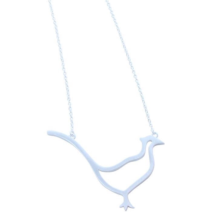Pheasant Necklace Gold/Silver-Necklace-MODA MEDINA