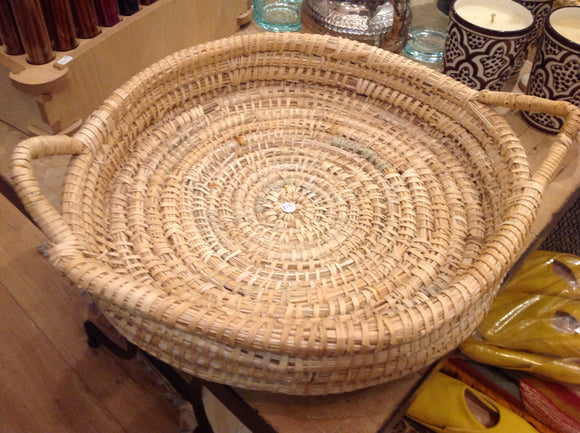 Handwoven Round Serving Tray x