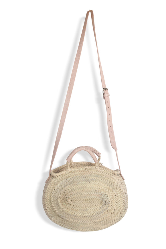 Oval shaped basket bag with two strap lengths - MODAMEDINA