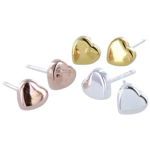 Stud Heart Earrings - MODAMEDINA